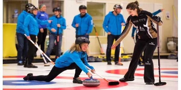 Curling och julbord